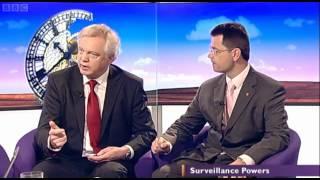 MP David Davis criticises the 'Snooper's Charter' on BBC Daily Politics