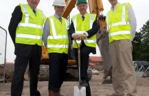 """Breaking ground"" at Barnes Wallis Court, Howden"