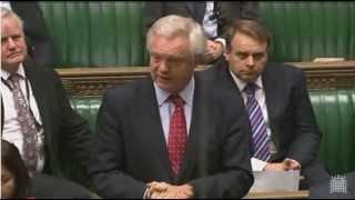 David Davis MP asks question on prisoner votes