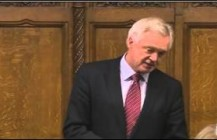 David Davis MP asks question on the Leveson Report