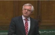 David Davis MP speaks in the House of Commons on secret courts