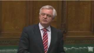 David Davis MP speaks in debate on Justice and Security Bill