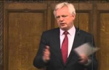 David Davis speaks in Parliament reacting to the 2013 Budget