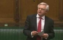 David Davis speaks about legal aid cuts in the House of Commons Chamber