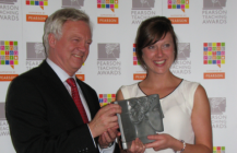 David Davis meets Teacher of the Year in Parliament