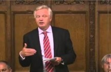David Davis MP speaks in the debate on Syria