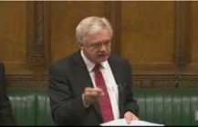 David Davis MP raises his concerns over the Lobbying Bill