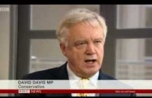 David Davis comments on Plebgate on BBC News at ten