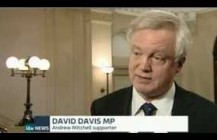 David Davis briefly comments on Plebgate to ITV News