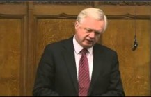 David Davis raises a question in the House of Commons regarding the Police Federation