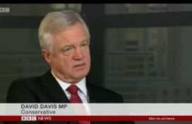 David Davis comments on the sentencing of policeman Keith Wallis on BBC News at Ten