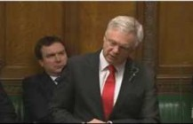 David Davis raises concerns of flooding in the UK in the House of Commons