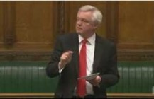 David Davis speaking in the House of Commons regarding the Normington Report on reform of the Police Federation