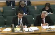 David Davis gives evidence to the Home Affairs Committee regarding counter- terrorism