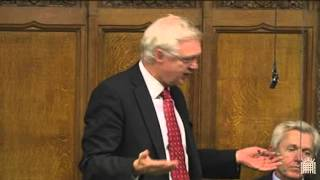 David Davis intervenes on Chris Bryant at the second reading of the Recall Bill in Parliament
