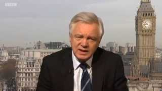 David Davis comments on EU immigration on BBC Look North