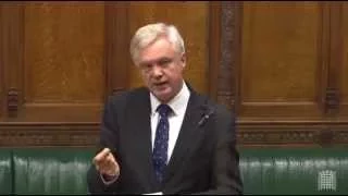 David Davis speaks in Parliament at the Second Reading of the Trade Union Bill