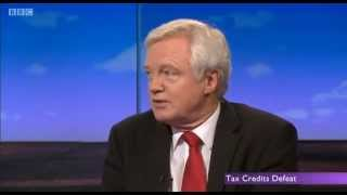 David Davis MP discusses Tax Credits on Daily Politics