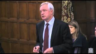 David Davis makes his concluding remarks in the debate on drone strikes in Westminster Hall