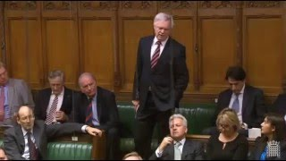David Davis asks the Prime Minister a question about the UK's renegotiation with the EU