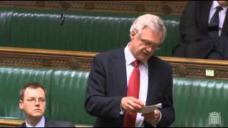 David Davis speaks at the second reading of the Investigatory Powers Bill