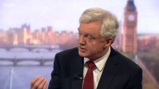 David Davis appears on the Andrew Marr show to discuss his recent visit to Syria