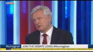 David Davis MP discusses the EU referendum on Sky News