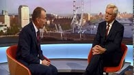 David Davis MP appears on The Andrew Marr Show to discuss Brexit
