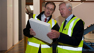 David Davis MP visits Jablite factory