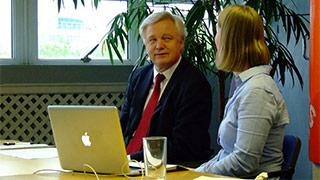 David Davis MP talks Snoopers Charter with 38 Degrees campaigning organisation