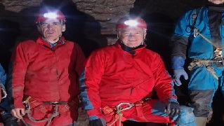 David Davis MP & David Rutley MP briefed on access to caves while underground