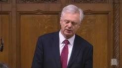 David Davis MP asks question regarding the cost of HS2