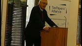 David Davis MP launches a report from the TaxPayers' Alliance