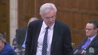 David Davis MP intervenes in the Westminster Hall debate about motorhomes and Vehicle Excise Duty