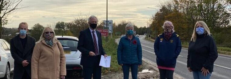 David Davis MP meets with local councillors to see Junction of the A1034 and the A63