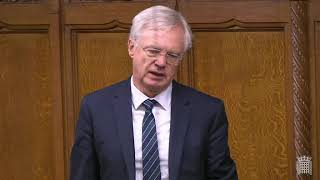 David Davis MP asks Secretary of State a question during the Foreign, Commonwealth and Development Office Questions