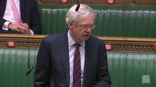 David Davis MP questions the Chancellor on his economic strategy during the Spending Review announcement