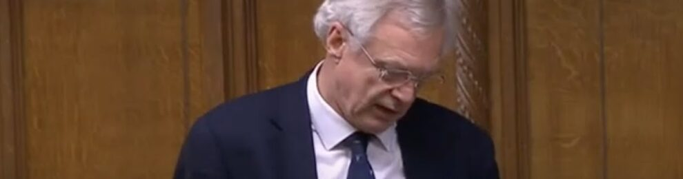David Davis MP contributes to the Reports Stage of the Overseas Operations Bill
