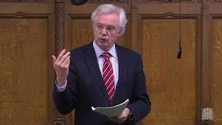 David Davis MP contributes to the Budget Statement