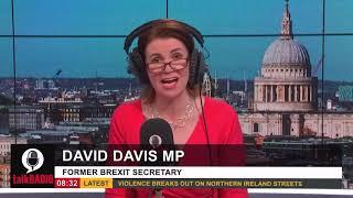 David Davis MP interviews with talkRADIO's Julia Hartley-Brewer discussing vaccine passports