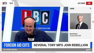David Davis MP interviews with LBC on UK foreign aid