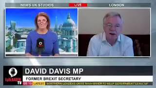 David Davis MP discusses with Julia Hartley-Brewer how Youtube censored his speech